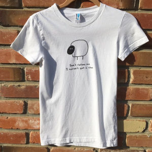 American Apparel White Short Sleeve Woot T-shirt